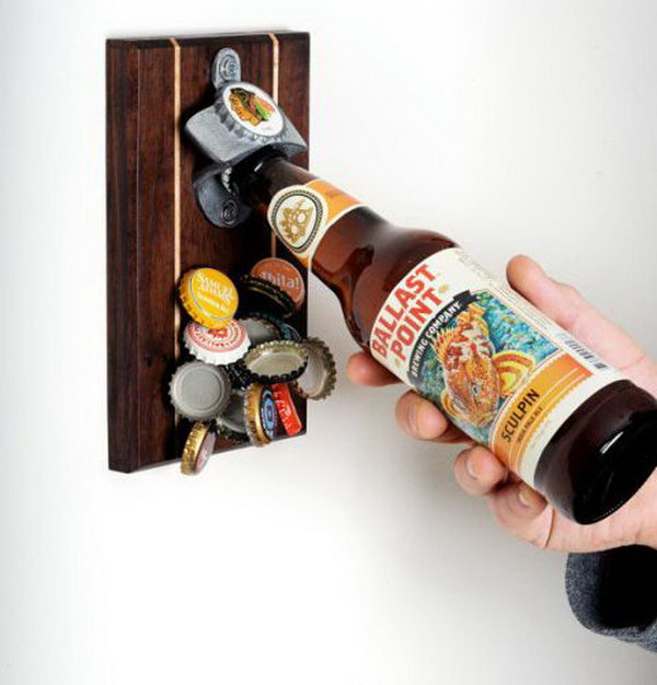 Can you imagine a happy time with your best fellows but without beer? Absolutely not! The handmade magnetic bottle opener is a cute gift for them, the coolest part is the megnet can gather the bottle caps together.