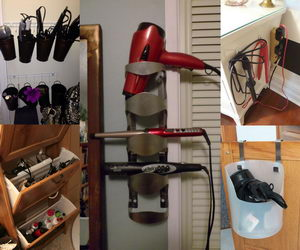 Nice Creative Hair Dryer And Curling Iron Storage Ideas   Hative