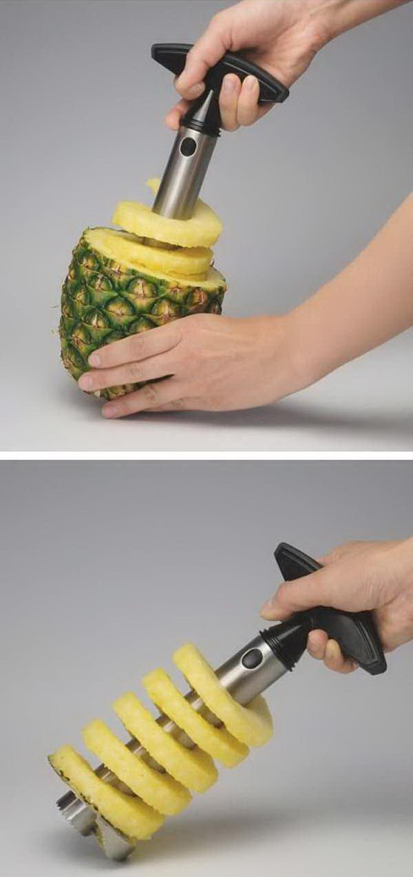 A Creative Kitchen Gadget Which Helps You Peel, Core, And