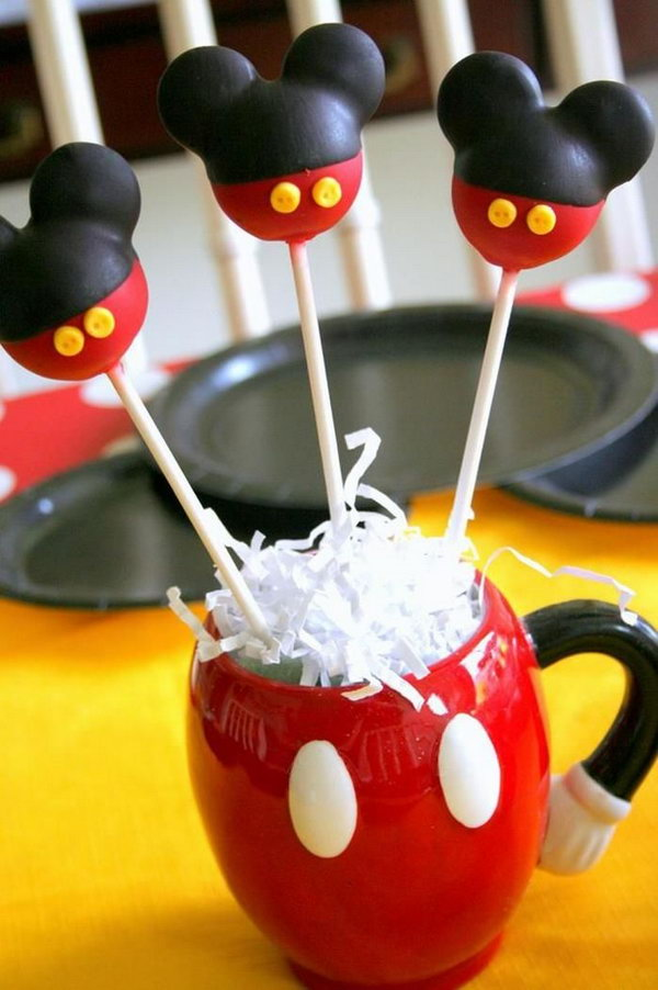 Your kids will enjoy these Mickey Mouse cake pops and this coffee mug is also very interesting. This cute Mickey Mouse cake would surely make your kids happy and make their mouth watering. http://hative.com/cute-minnie-mouse-party-ideas-for-kids/
