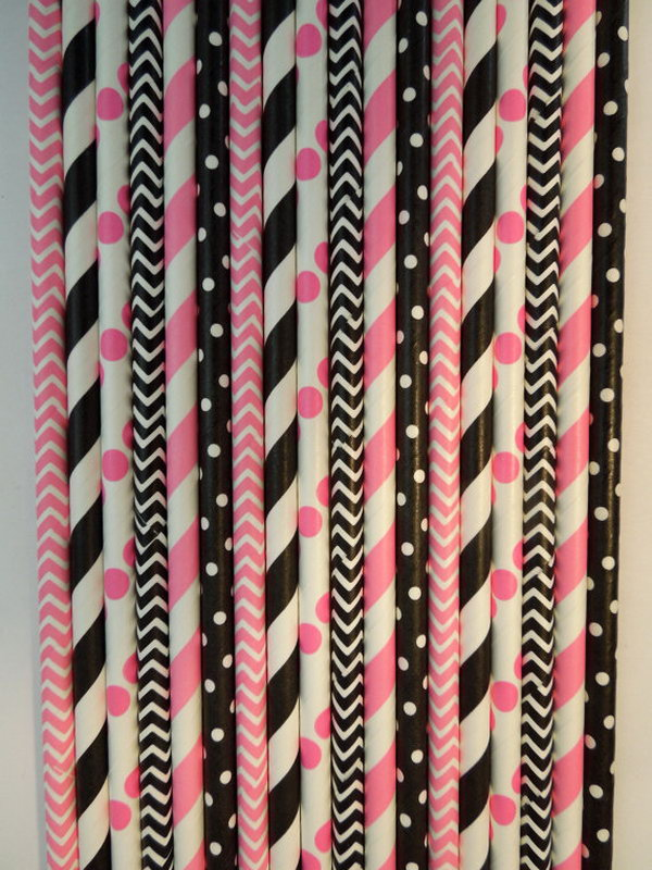 This eco friendly, biodegradable and compostable paper straw mix is super cute and is perfect for Birthday Party, Rustic Wedding, Kids' Birthday Party, or pretty much any event. You can't ignore this fabulous paper straw mix decorations for your party. http://hative.com/cute-minnie-mouse-party-ideas-for-kids/