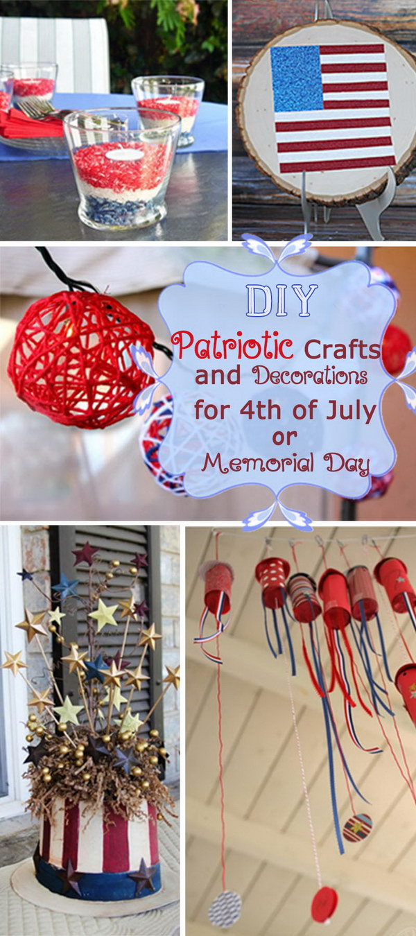 DIY Patriotic Crafts and Decorations for 4th of July or Memorial Day!