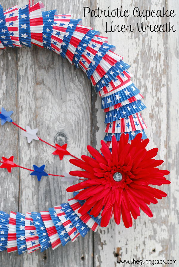 Diy patriotic wreath ideas for 4th of july or memorial day for 4th of july decoration