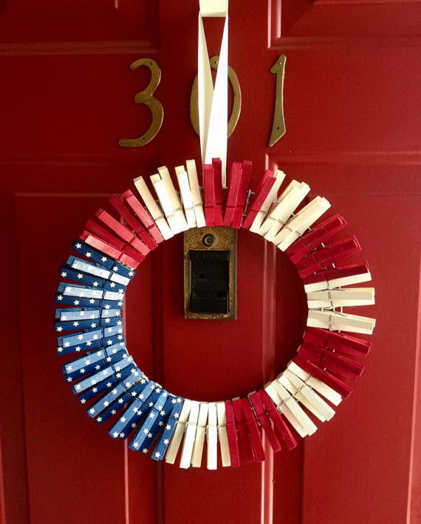 Diy Patriotic Wreath Ideas For 4th Of July Or Memorial Day Hative