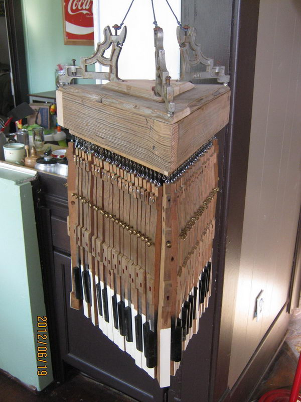 20 creative old piano repurposing ideas hative - Repurposing old suitcasescreative ideas ...