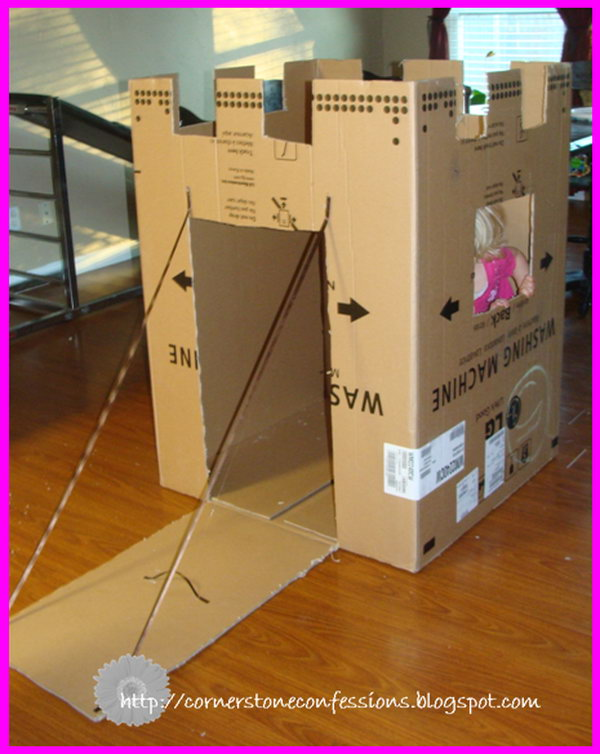 Cardboard Castle for Pretend Play.