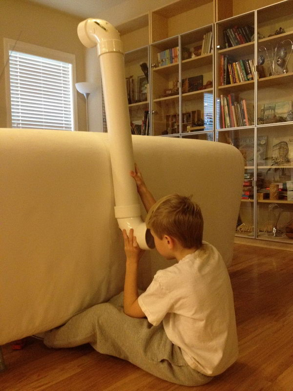 This PVC pipe periscope project is super simple and gives you a chance to show and explain to kids how mirrors work. It will keep your kids busy for hours as they search for spies and intruders.