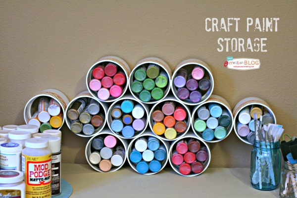 PVC pipe craft supply storage.
