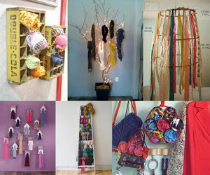 scarf-storage-ideas-collage