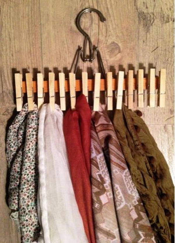 30 creative scarf storage display ideas hative - Ideas para colgar trapos de cocina ...