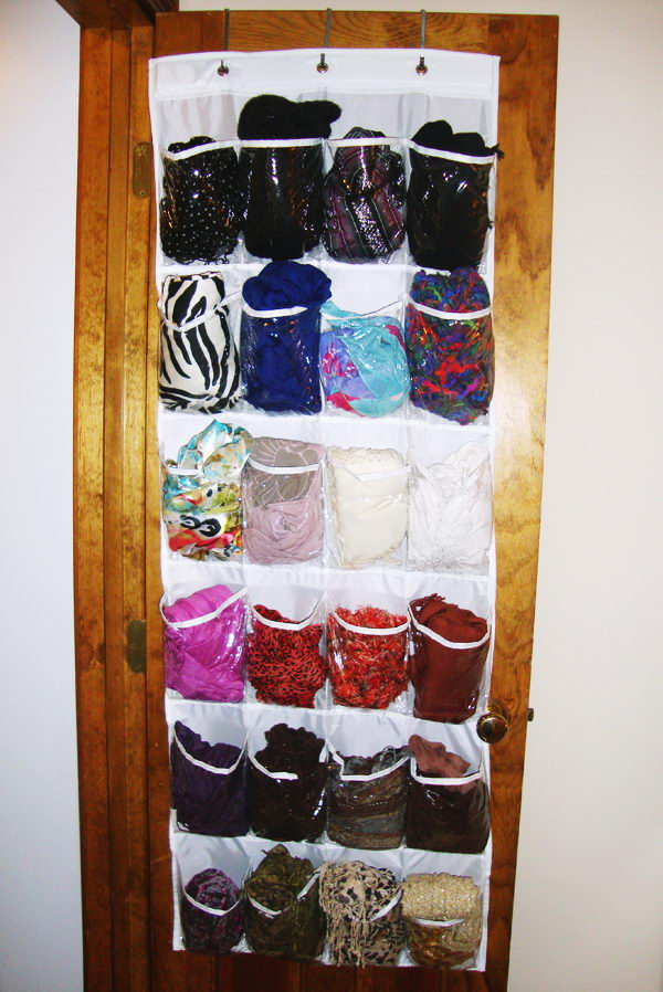 Creative Scarf Storage and Display Ideas Scarves