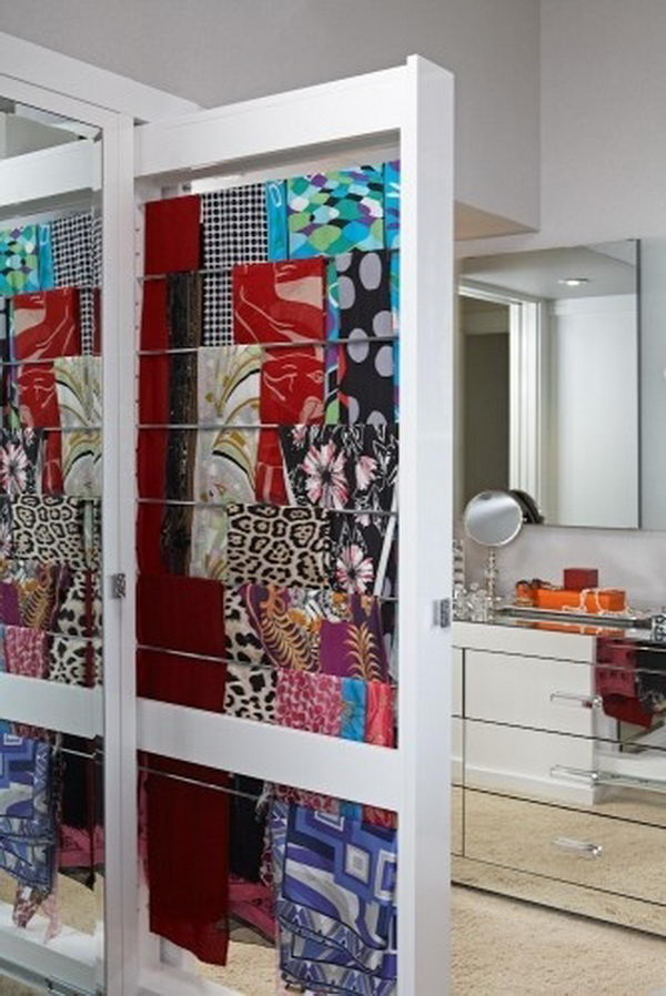 30 Creative Scarf Storage Amp Display Ideas Hative