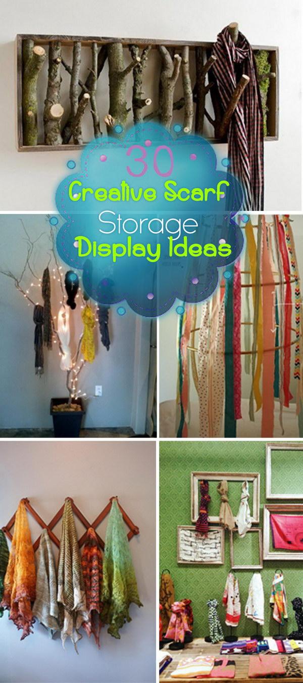 Creative Scarf Storage and Display Ideas!