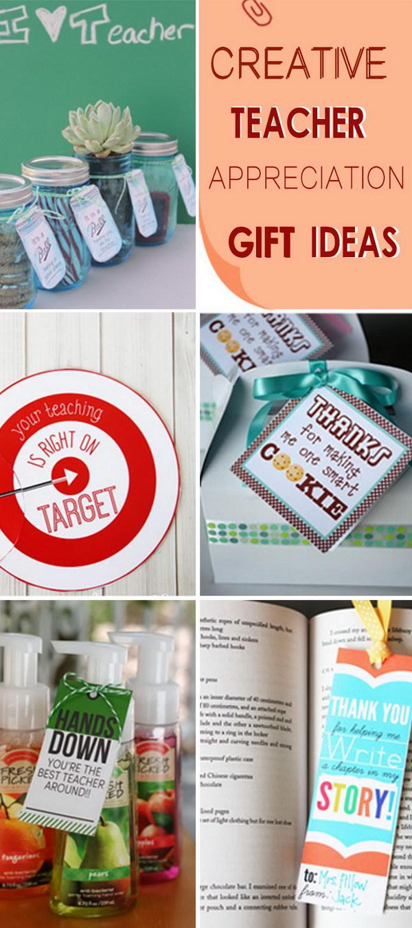 Creative Teacher Appreciation Gift Ideas!