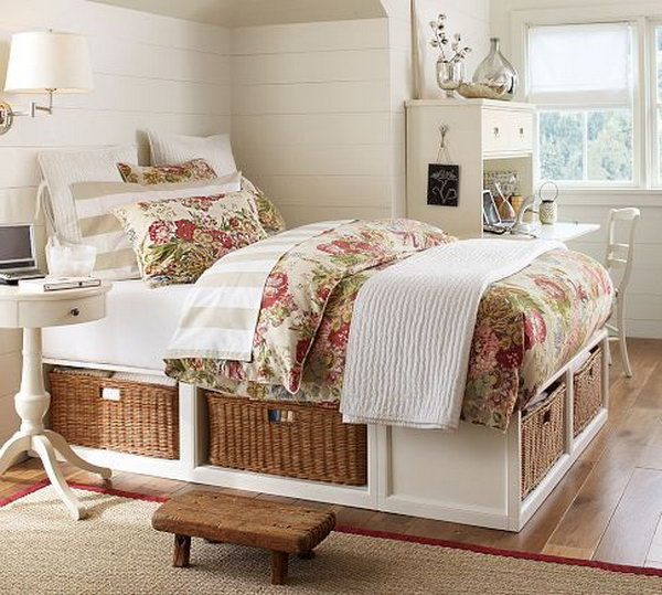 Creative Under Bed Storage Ideas For Bedroom Hative