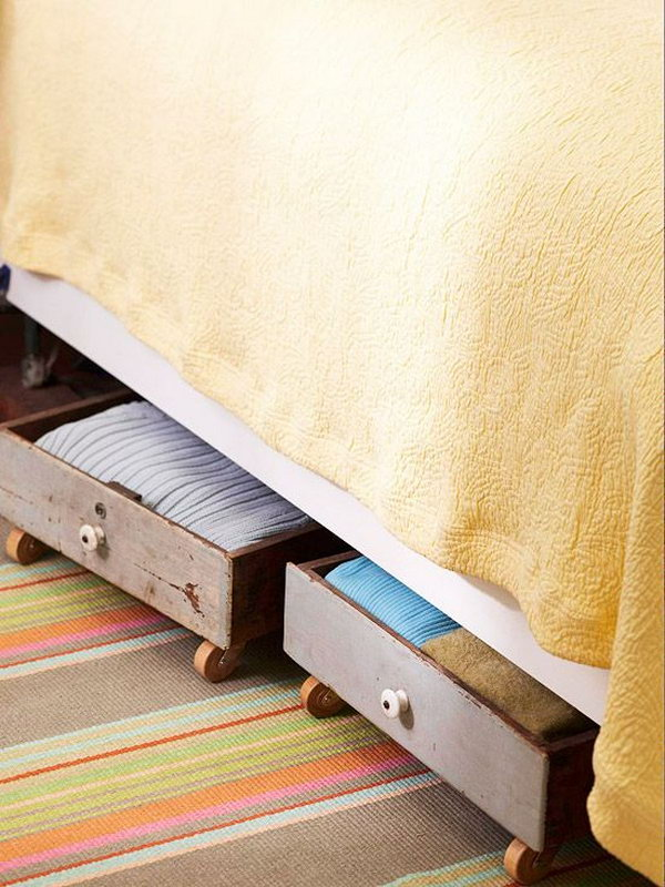Creative under bed storage ideas for bedroom hative - Under the bed storage ideas ...