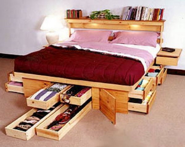 storage boxes with your bed hidden behind a bedskirt. Great storage ...