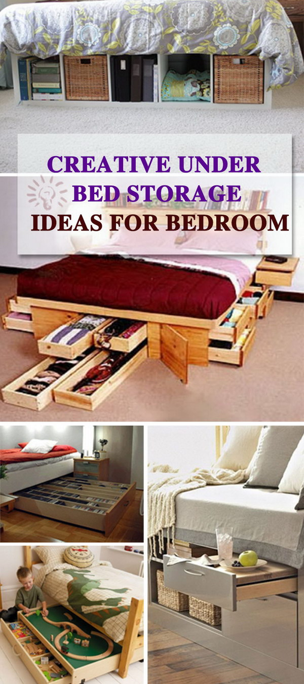creative under bed storage ideas for bedroom hative 20433 | under bed storage