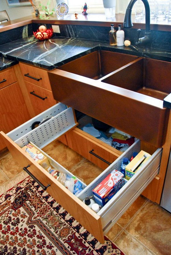 creative under sink storage ideas hative under kitchen sink storage ideas miserv