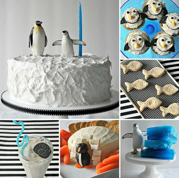 Take a dip into all things penguin for your child's upcoming birthday party. Keep everything black and white with the food, activities and decor for a black tie penguin party.