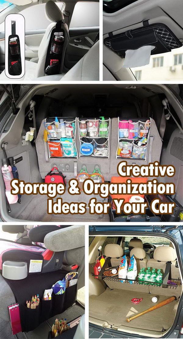 Creative storage and organization ideas for your car hative for Creative organization