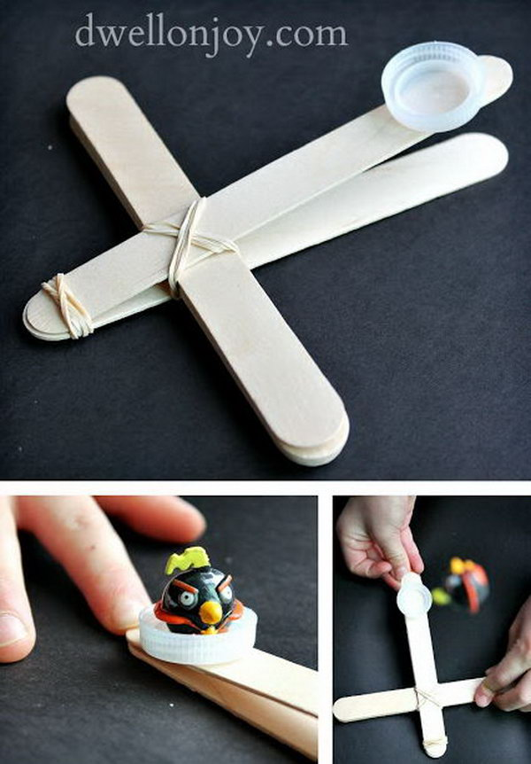 Angry Birds Catapults. Recently, angry birds are very popular among kids. Now you can make an angry bird catapult by yourself and enjoy it with your friends.