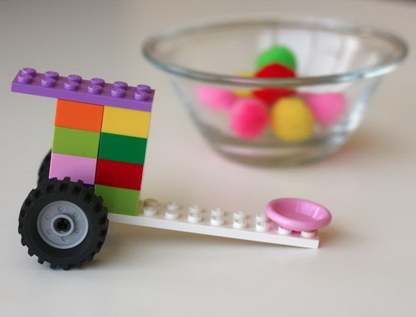 Lego Catapult. Most kids are interested in LEGO. A Lego catapult will be a great toy for your kids. Here is a video about how to build a simple Lego catapult. http://hative.com/catapult-projects-for-kids/