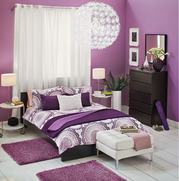 Bedroom Teenage Small Girls Room Purple Large Size: 10 Cozy Bedroom Ideas
