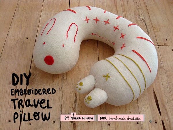 Neck Pillow. Super cute neck pillow like this is an excellent present for travelers. Neck pillow can make travelers more comfortable when they sleep on the airplane or train.