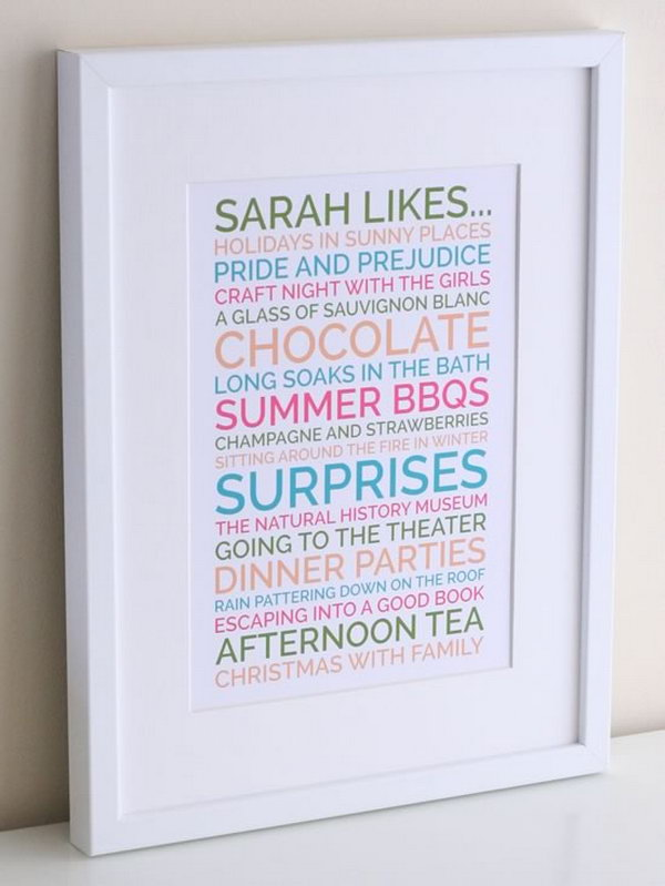 A Unique Likes Poster Is Great Present For Your Friend