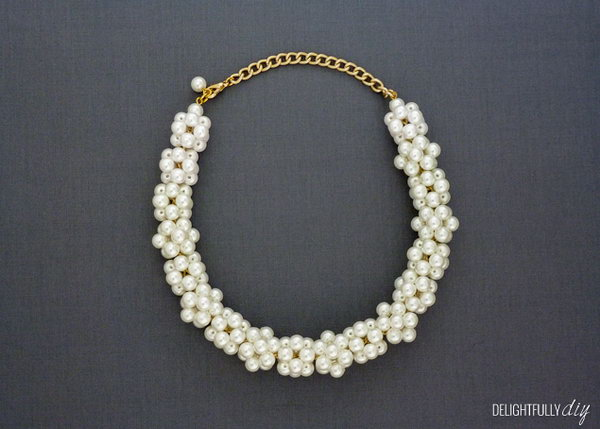 Pearl Necklace. This gorgeous handmade pearl necklace is an excellent present for your mom on her birthday or Mother's Day. Your mom will surely love to wear it.