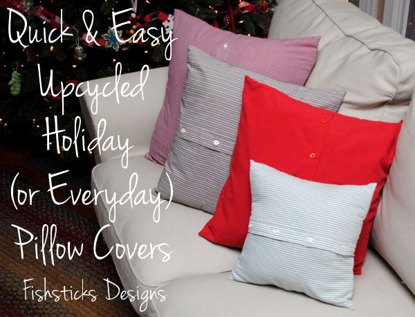 This DIY pillow cover is a quick and simple project to give our livingroom a little extra Christmas cheer. Learn the instruction from