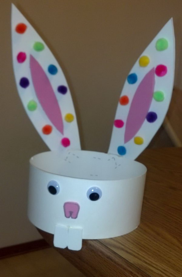 How to Make Paper Plate Easter Bunny Craft and Learning Activity: 1. Follow the directions above for the Candy Dish except do not cut out the center of the dish. (A pattern for the ears, feet, nose, eyes, and teeth is available to members.).