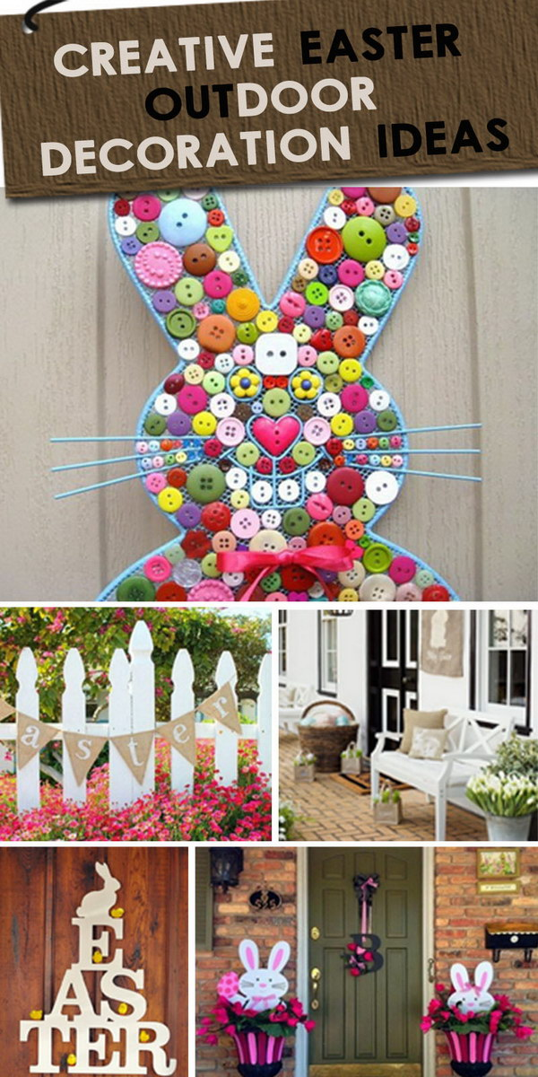 Creative Easter Outdoor Decoration Ideas! Light up the spring season and give off the festive mood!