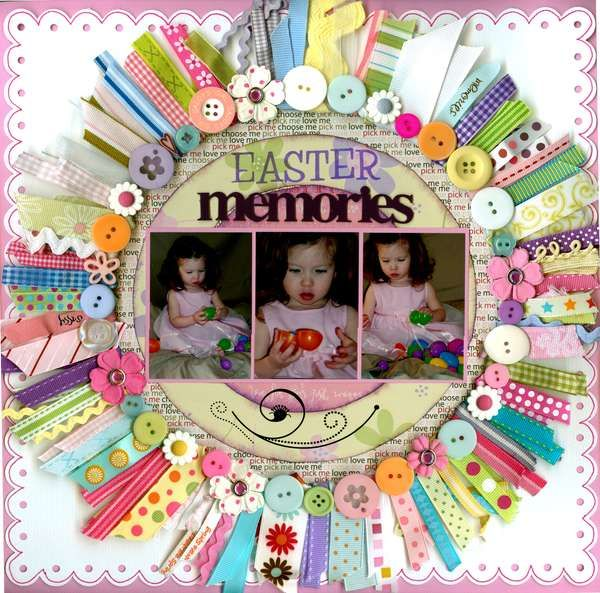 Scrapbook to Collect Easter Memories . Once the Easter pictures are taken, you can use this beautiful scrapbook to collect these pictures and display the good moment and it may recalls your beautiful memory and happy mood at that time.