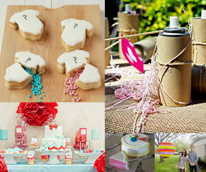 gender reveal party ideas collage