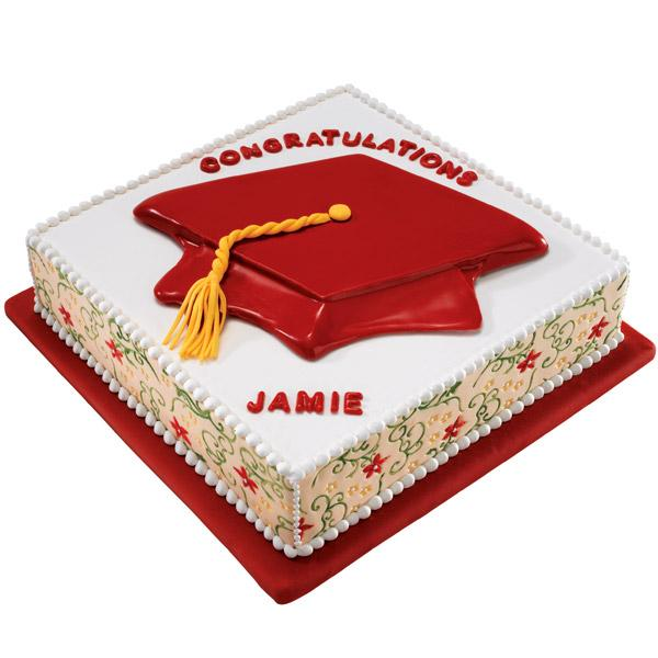 As the name suggests, this stunning cake features a red thinking cap at the top. The sides are created from fondant with graceful vines fondant mat, which imprints the beautiful leaf and tendril design for gorgeous garnishment.