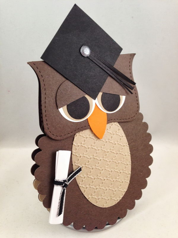 Card Making Ideas Owls Part - 22: Wise Owl Graduation Card. Use Die Cut And Punch To Create This Awesome Wise  Owl