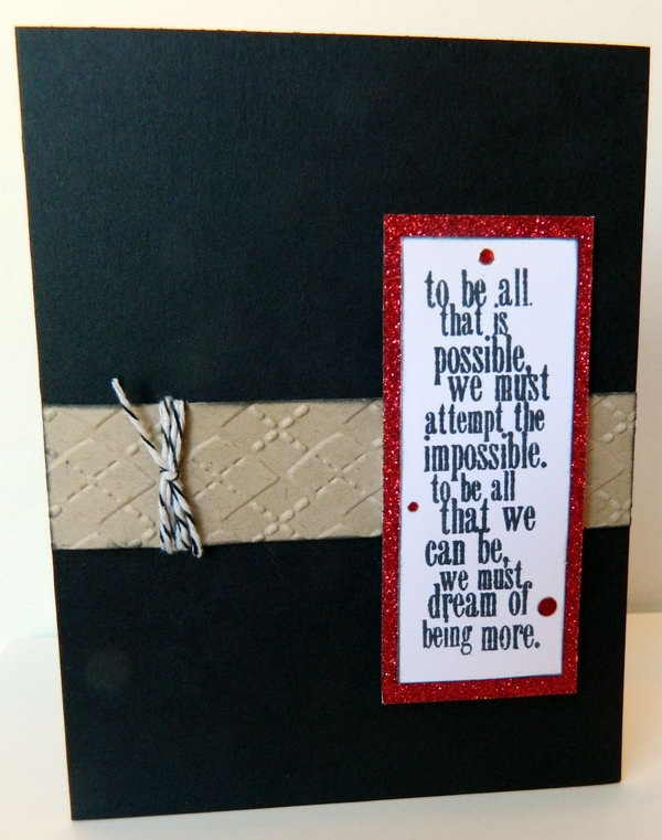 Nice Card Making Ideas Graduation Part - 2: Crafted Graduation Card. This Super Chic Graduation Card Features An Argyle  Twine Tied Around The