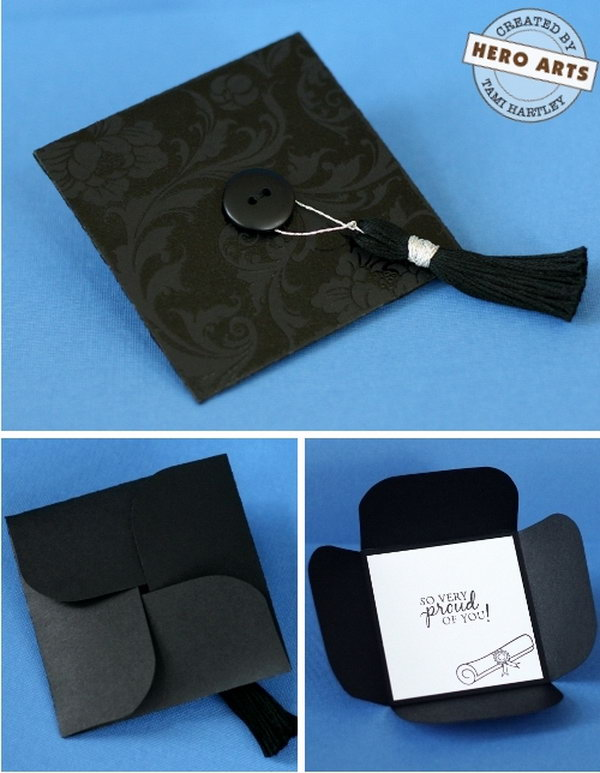 Folded graduation cap card this graduation cap card is so funny and