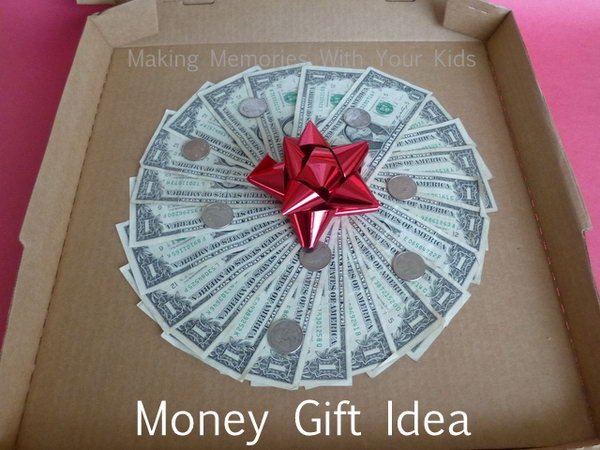 Funny Cash Graduation Gift. Everybody loves cash, so does graduate. Send cash in a funny way by securing the money down in a pizza box using glue dots to avoid the money from falling all over the place. It's fantastic to please the graduate with this unique gift.
