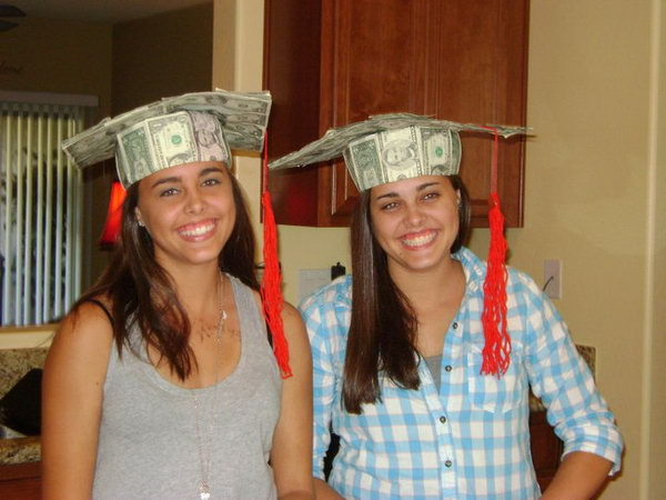Origami Dollar Graduation Hat