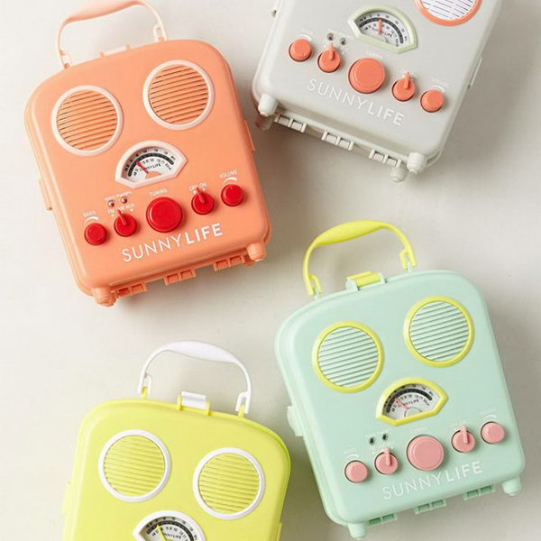 Sunny Life Beach Radio. When the graduates move on to society, send them these adorable sunny life beach radios to light up the whole day with its bright colors like sunshine. They can bring pleasure when the recipients are down. http://hative.com/graduation-gift-ideas/