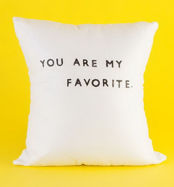 You Are My Favorite Linen Pillow. This linen pillow is adorably handmade with pure flax linen. It's perfect for the graduate's beautiful late night dream. http://hative.com/graduation-gift-ideas/