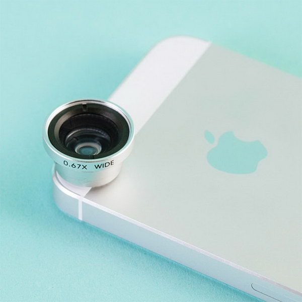 Wide Angle and Macro Lens. This macro leas with solid aluminum and outfitted with thick, high clarity glass will fit almost any phone or device that has a camera in it. The graduate will adore this awesome gadget with not doubt. http://hative.com/graduation-gift-ideas/