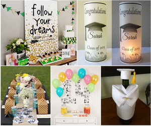 25 diy graduation party decoration ideas hative - Graduation Party Decoration Ideas