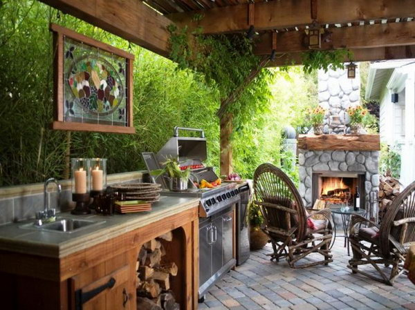 Cool Living Space. We Wouldnu0027t Go Inside At All This Summer If We