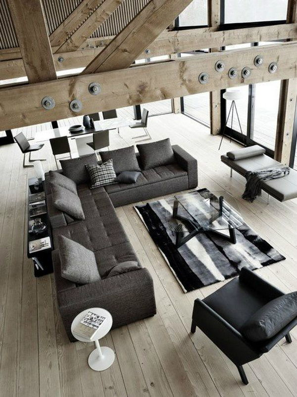 Cool home remodeling ideas hative for Cool living room ideas for men