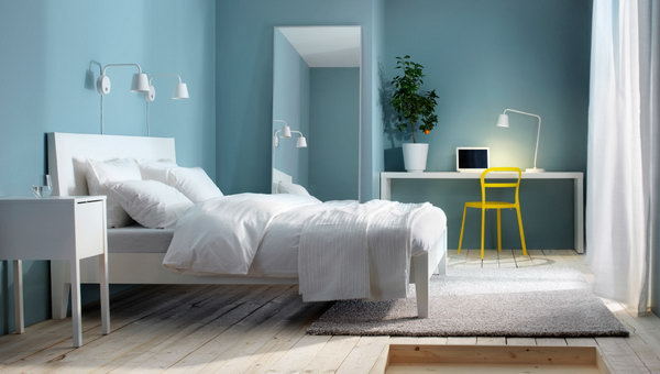 blue has always been a sign of freshness and elegance as a result blue 3 ikea bedroom ideas - Bedroom Ideas Ikea