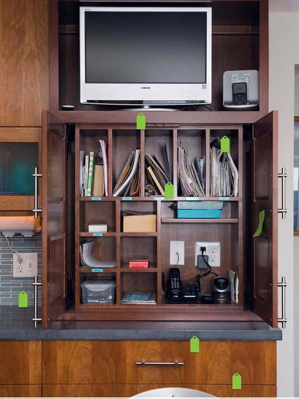 Family Charging Station 25 creative ways to organize your family's electronics - hative